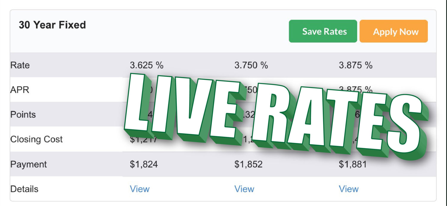 live mortgage rates