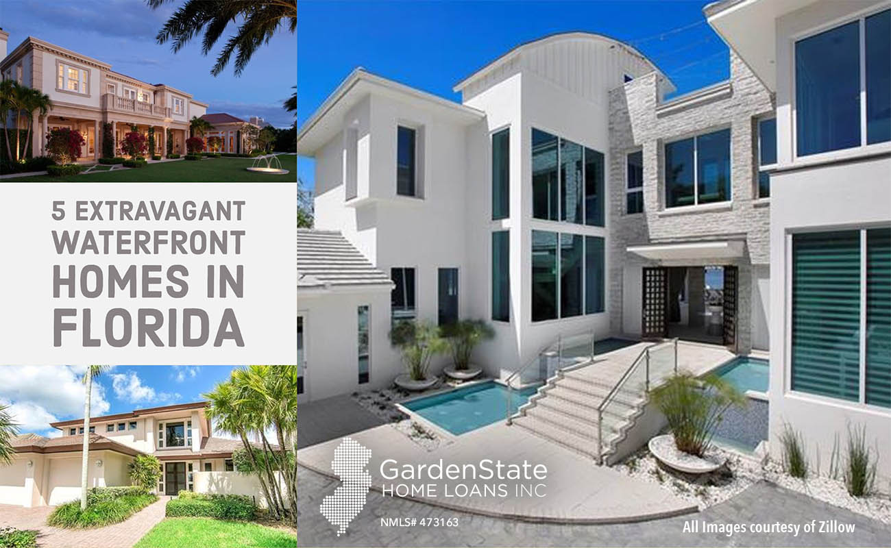 5 extravagant waterfront homes in florida garden state for House builders in florida
