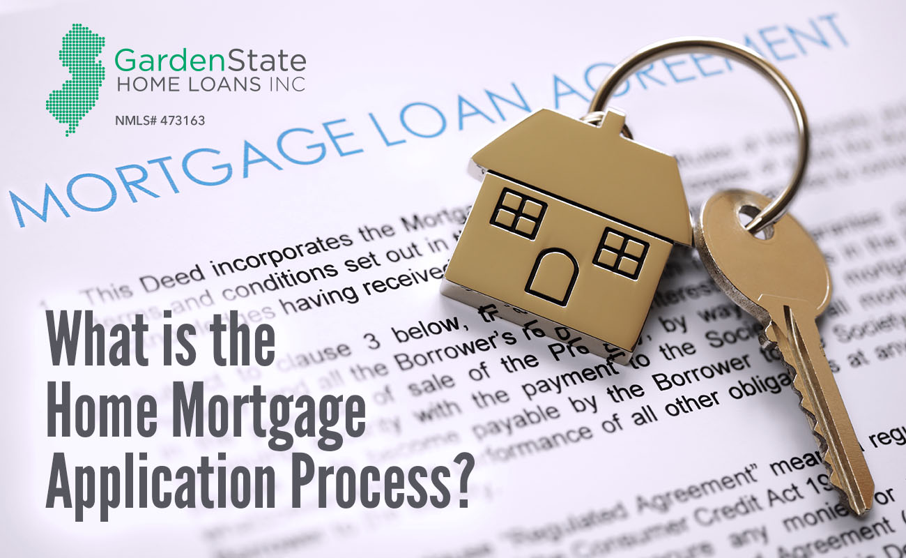 What is the process involved in a home mortgage application?