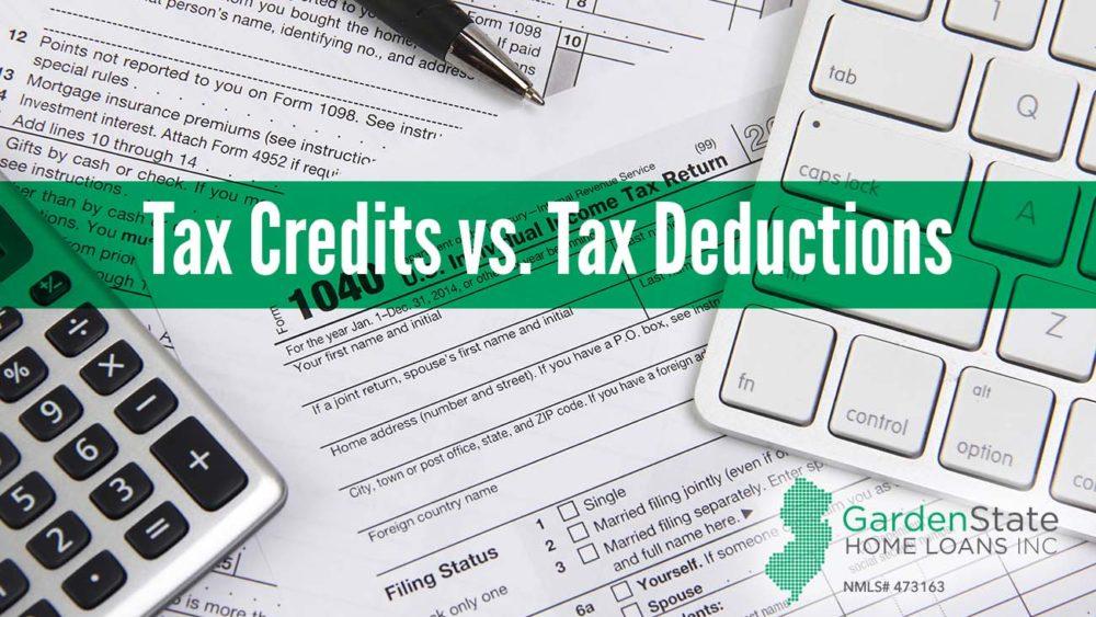 , Tax Credits vs. Tax Deductions