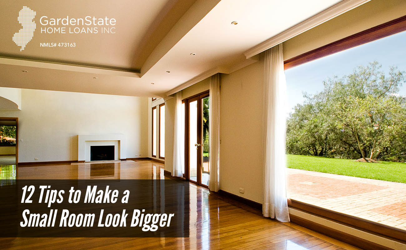 12 tips to make a small room look bigger garden state for The make room