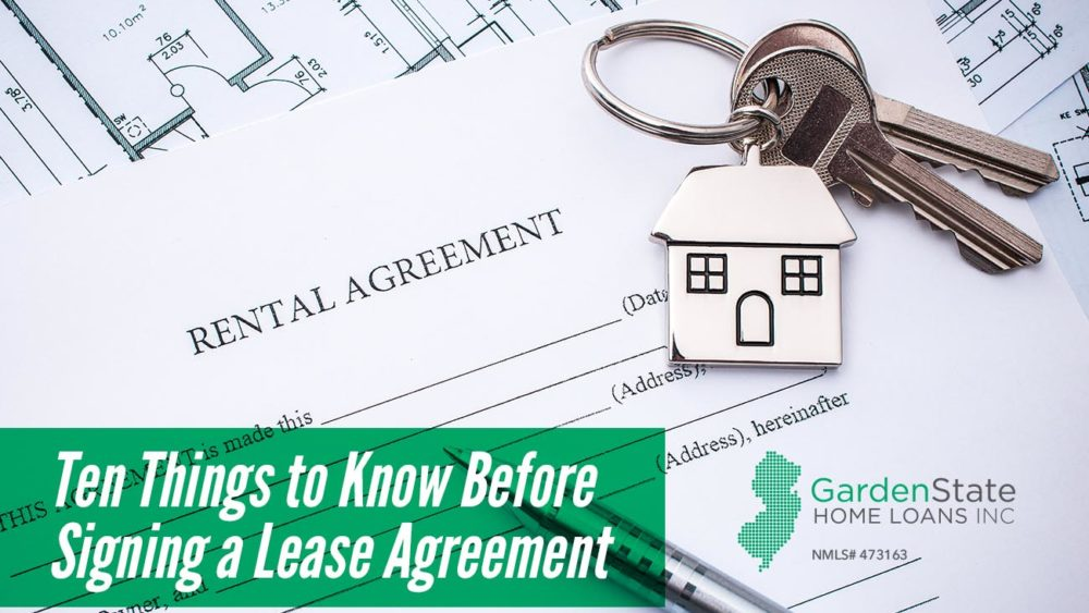 , Ten Things to Know Before Signing a Lease Agreement