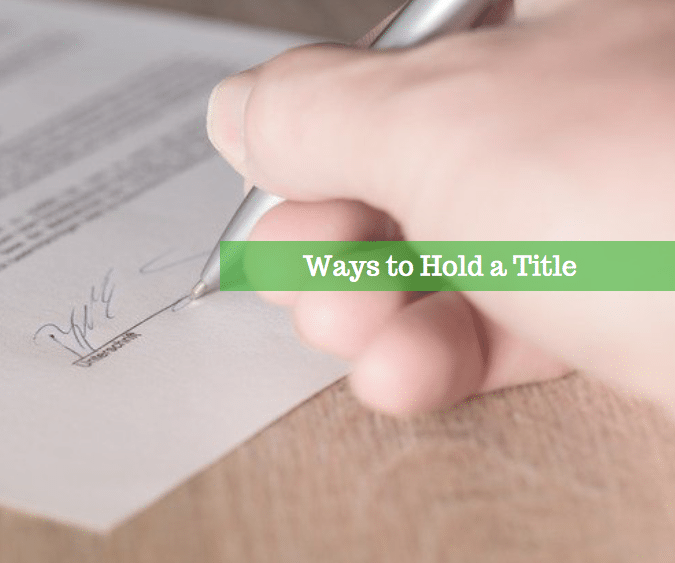 , Ways to Hold a Title