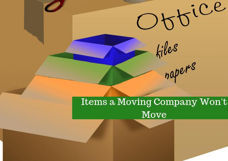 , Items a Moving Company Won't Move