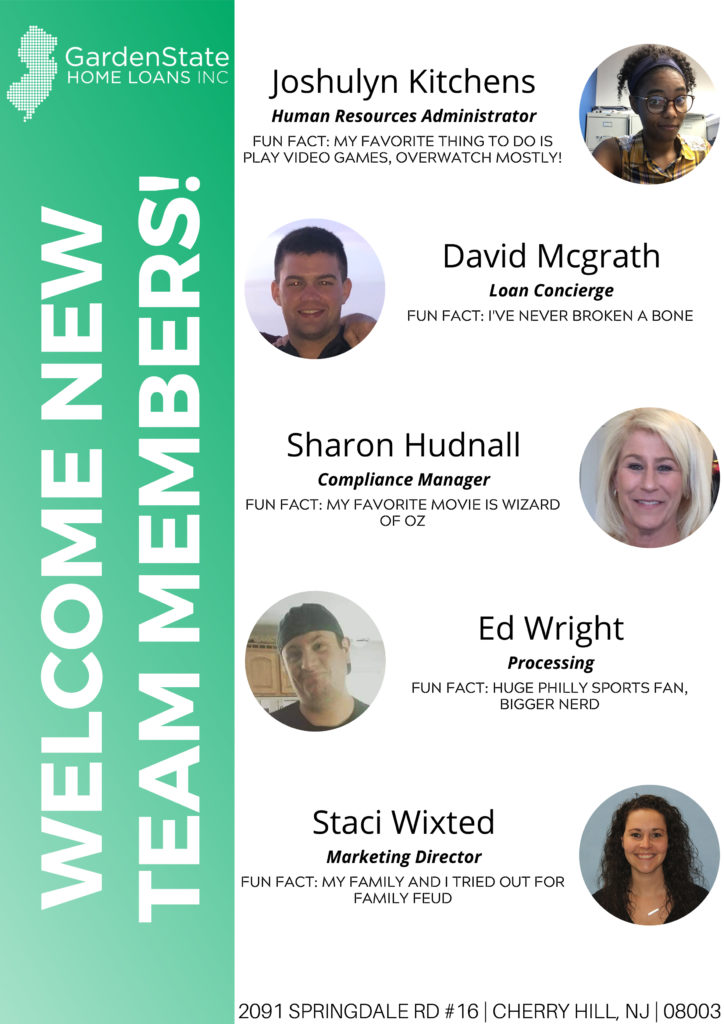 , Garden State Welcomes New Employees!
