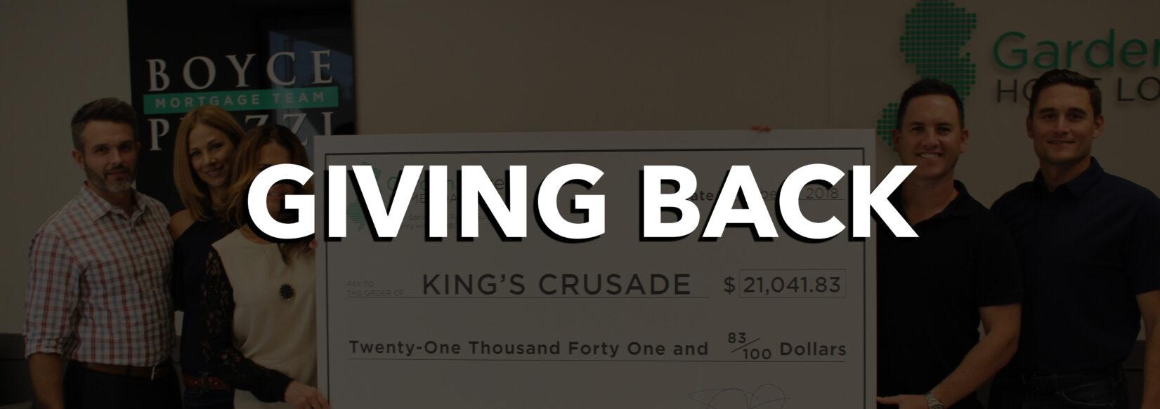 , Giving Back